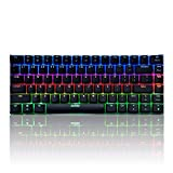 Docooler AJAZZ AK33 Mechanical Gaming Keyboard E-Sport Keyboard 82 Teclas USB Wired Blue Switches Anti-Ghosting para PC Portátil Ordenador Portátil Escritorio (Interruptor Verde)