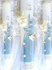 Idea Regalo - Battesimo candela comunione candela giovane 400/40 mm VT-39 con accessori per sé stessi ma anche scrivere