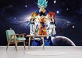 WYH-YW Papier peint 3D Anime Dragon Ball Super Z Goku Vegeta Salon Chambre Bureau Couloir Décoration Peinture Murale Décor Mural Moderne 200cmx140cm(W×H)