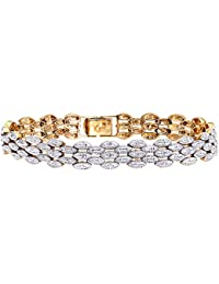 Naava Women's 9 ct Yellow Gold Pave Set 0.25 ct Diamond Bracelet
