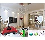 Hand Push Sweeper Broom Kehrmaschine Teppichkehrer Haushalt Hand Praktisch mit rotierenden Bürsten Automatische Hand Magische Besen Reinigung Kehren Maschine Reiniger Roboter for Mutter und Vatertag Geschenk