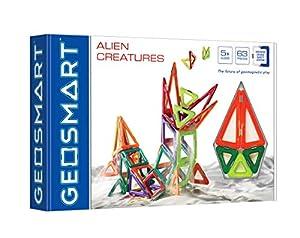 GEOSMART Alien Creatures 63 pcs 63 Pieza(s) - Bloques de construcción de Juguete, 63 Pieza(s), Rectangular, Plaza, Trapezoidal, Triángulo, Monótono, Child, Niño/niña
