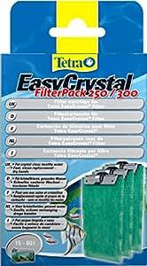 Tetra EasyCrystal Filter Pack 250/300 Filterpads (für EasyCrystal Aquarium-Innenfilter, keine nassen Hände beim Filterwechsel), 3 Stück