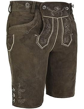 Michaelax-Fashion-Trade Spieth & Wensky - Herren Trachten Lederhose mit Stegträger Volker (261317-0256)