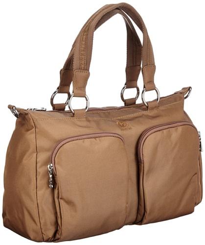 Bogner Leather Spirit Mia 0043814, Borsa a spalla donna, 32x24x11 cm (L x A x P) Marrone (Braun (teak 005))