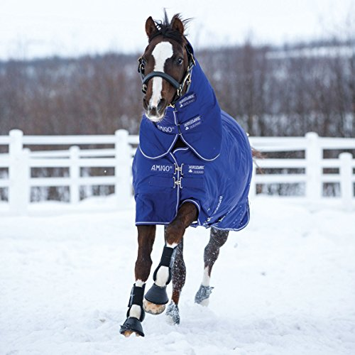 Horseware Regendecke Amigo Hero 6 Plus 140cm 200g Füllung Atlantic Blue / Atlantic Blue & Ivory
