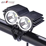 #5: AllExtreme 2 LED Owl Eye Headlight Lamp CREE LED Fog Light with High Beam/Low Beam Function Universal for Bike Cars (20W, Black)