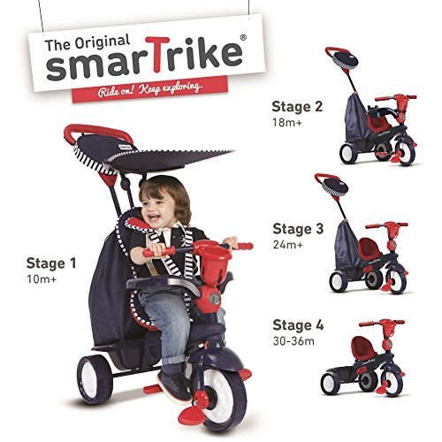 Smart Trike 675-2502 Triciclo Smart Trike Spirit Star 4 In 1, blu