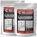 2x 500g / 1kg L-GLUTAMIN Pulver | Chrystalline Powder | freie Aminosäure | Regeneration + Muskelaufbau | Top Qualität | Optimiert mit Vitamin B6