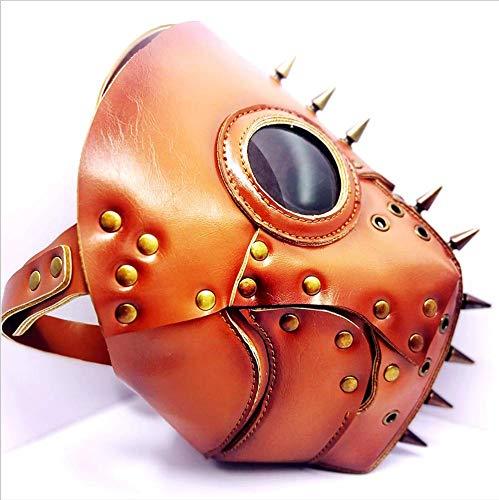Halloween-Maske, Halloween-Kostüm Steampunk Pest Doktor Maske, Horror-Geist Beängstigend, Prank Maske Gesicht Beängstigende Party, Bar-Requisiten, Maskerade
