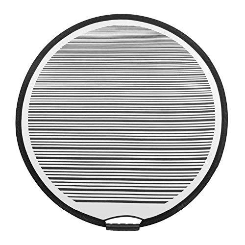 31.5inch Rund Gestreift Flexibel Klappbar PDR Gefüttert Licht Reflektor Platte Dellen Panel Tragbar Konzipiert für Auto Tür Kratzer und Hagel Reparatur Zubehör Werkzeuge - grau, Free Size