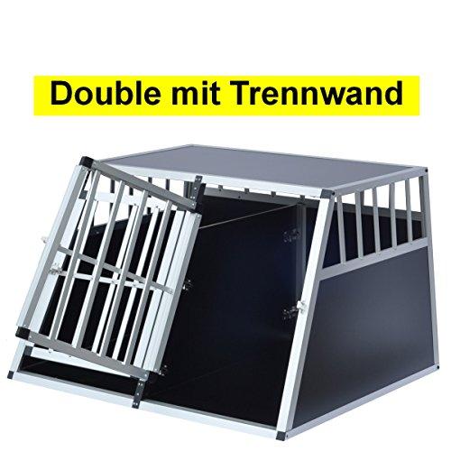 Stabile Alu Auto Hundetransportbox von DELMAN