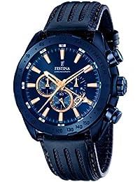 Festina Herren-Armbanduhr Chronograph Quarz Leder F16898/1