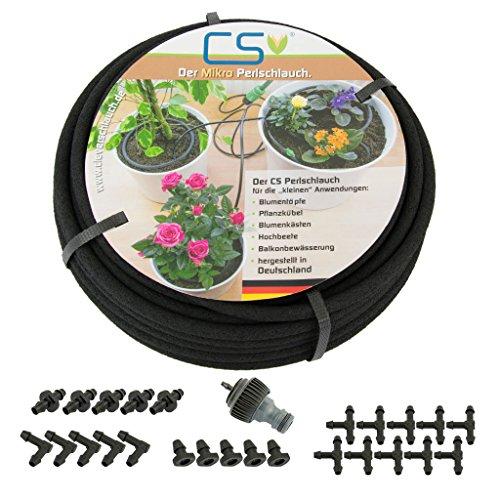 CS Mikro Bewässerungsset Blumentopf, Topfpflanzen, Terrassen- und Urlaubsbewässerung 7,5m Z1.00