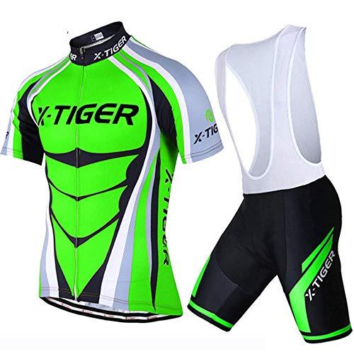 GFF Sommer-Kurzarm-Reitgurtset, atmungsaktive und schnell trocknende Mountainbike-3D-Kissen-Reitausrüstung -