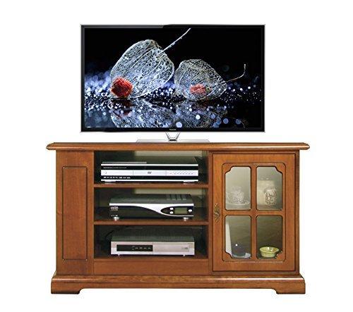 mobile-porta-tv-in-stile-con-scafalatura-anteriore-e-laterale-e-con-vetrinetta