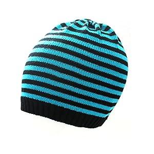 7XCollection kleine warme Wintermütze Mütze Skimütze Kindermütze Kinder Mädchen Jungen gestreift S