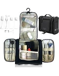 Beauty Case da Viaggio Borsa da Toilette, Bottiglie di Viaggio per Cosmetico - uomini e donne | Organizzare impermeabile per accessori da bagno trucco, Kit Rasura liquidi | approvate dalla TSA
