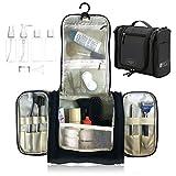 Luggs Kulturtasche zum Aufhängen, Kulturbeutel, Reise Flaschen für Rasierzeug Kosmetika für Herren und Damen | Wasserdicht Veranstalter für Badezimmer Zubehör, Flüssigkeiten | TSA genehmigt (Schwarz)