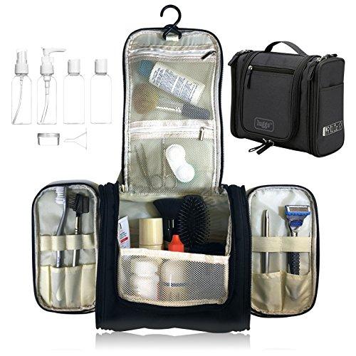 Neceser para colgar Viaje Bolsa Aseo Bolso Tocador, botellas viaje | Organizador Accesorios de Baño de Cosméticos Afeitado, Kit y líquidos | Aprobadas para Seguridad de Aeropuerto