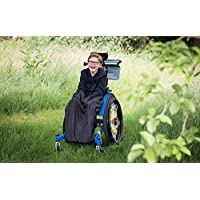 BundleBean Child Wheelchair Cosy/Special Needs Buggy Cosy - Waterproof, Fleece, Universal fit (Plain Black)