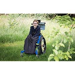 Couvre-jambes pour buggy besoins spéciaux/fauteuil chaise roulante - pour enfant (uni noir)