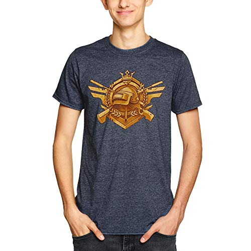 J!nx PUBG Camiseta Hombre Invencible Azul