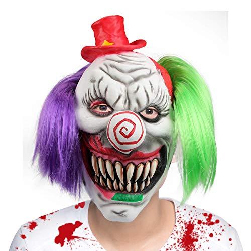 Kostüm Mann Dora - hyalinität & Dora Halloween Clown Masken, Creepy Angst oder Funny Clown Latex Maske für Kostüm Party oder Cosplay, Funny Red Hat Clown Maske