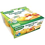 Blédina blédi fruit purée de pomme pêche + biscuit 4x100g dès 6 mois - ( Prix Unitaire ) - Envoi Rapide Et Soignée