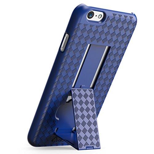 Custodia / guscio / cover / case iPhone 6s , i-Blason® [trasformer] iPhone 6 Plus / 6s custodia sottile slim con guscio duro e con cavalletto Kickstand (nero) blu