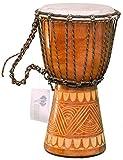 Kascha - Professionelle 30cm Djembe Trommel Bongo Drum Buschtrommel Afrika-Style