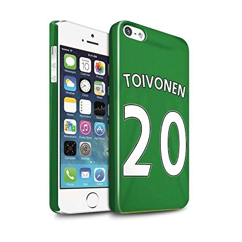 Offiziell Sunderland AFC Hülle / Glanz Snap-On Case für Apple iPhone 5/5S / Pack 24pcs Muster / SAFC Trikot Away 15/16 Kollektion Toivonen