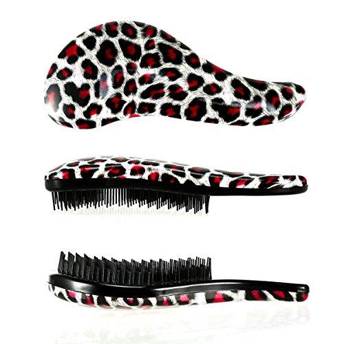 Foonii Detangler Bürste - Die beste Haarbürste zum Entwirren von Knoten im in den Haaren. Geeignet für dünnes, dichtes oder nasses Haare, Für jeden Haartyp geeignet (Leopard (Anzug Leopard Katze)