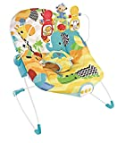 #5: Fiddle Diddle Baby Bouncer Cum Rocker with Vibration Function, Music,Three Position Recline, Bouncy Action and 3 Toys (Zebra Yellow)