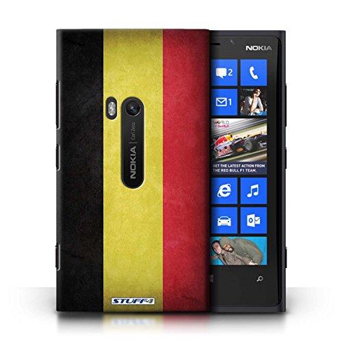 Coque en plastique pour Nokia Lumia 920 Collection Drapeau - Suisse Belgique