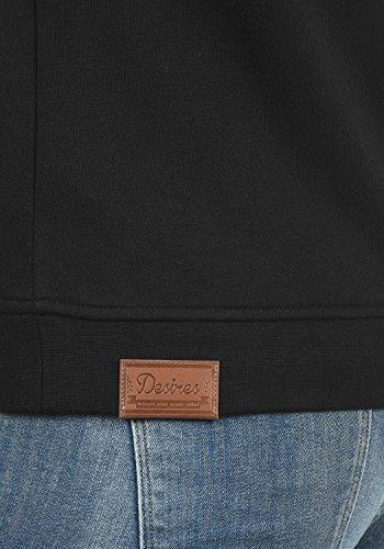 DESIRES Vicky Zip-Hood Damen Sweatjacke Kapuzenjacke Hoodie Mit Kapuze Fleece-Innenseite Und Cross-Over-Kragen, Größe:XL, Farbe:Black (9000) - 5