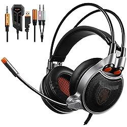 Sades SA-929 Auriculares Gaming sonido envolvente 7.1 USB 3.5MM Con Micrófono Compatibilidad multiplataforma Para PC/PS4/smartphones/tablets/nuevo xbox one