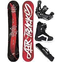 AIRTRACKS SNOWBOARD SET - TAVOLA HIT AND RUN WIDE 153 - ATTACCHI SAVAGE - SCARPONI SAVAGE QL 41 - SACCA/NUOVI - All Mountain Snowboard Attacchi
