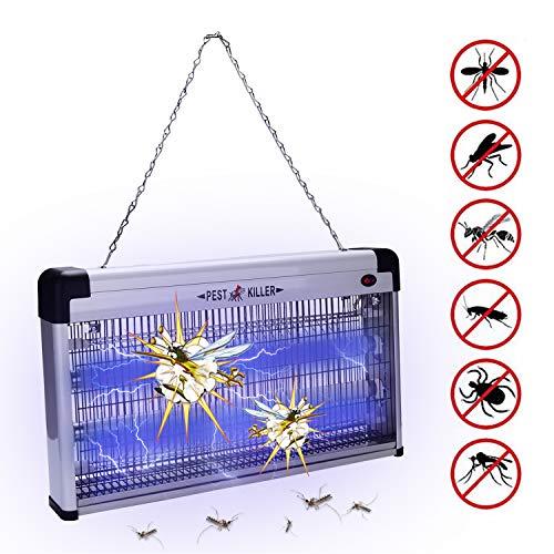 Hengda 30W Mückenlampe UV-Licht Insektenkiller Chemiefrei Insektenvernichter Chemiefrei Insektenlampe Elektrisch Mückenvernichter Aufhängevorrichtung