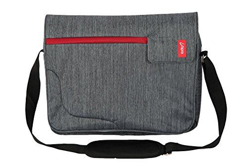 51zrEAWf2VL - BEST BUY #1 Bipra 15.6 Inch Laptop Messenger Bag Grey With Red Stripe Suitable for 15.6 Inch fits most Devices Netbooks, Laptop Computers, Tablets, ipad (Grey&Red) Reviews and price compare uk