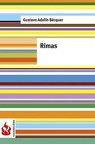Rimas: (Low cost). Edición limitada por Gustavo Adolfo Bécquer