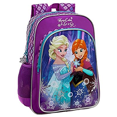 Disney 25123A1 Frozen Keep Calm Mochila Escolar, 19.2 Litros, Color Azul de Disney