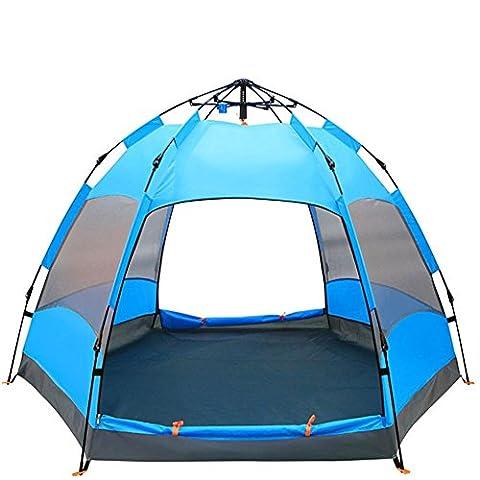 XG Tente automatique hexagonale à l'extérieur 5-8 personnes camping-car camping campement