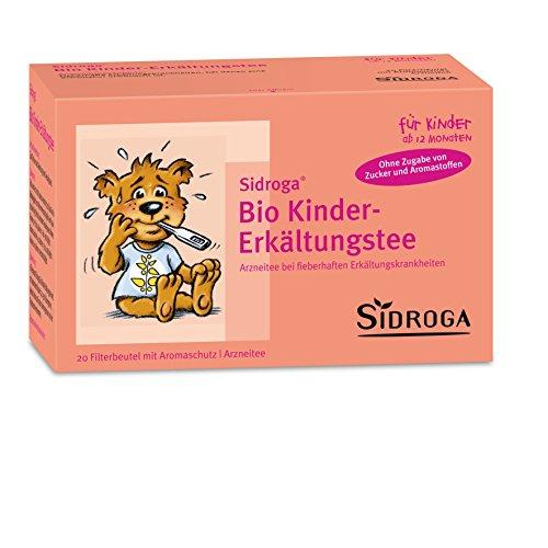 Sidroga Bio Kinder-Erkältungstee - Arzneitee mit Heilpflanzen bei Erkältung und Fieber - 20 Filterbeutel à 1,5 g