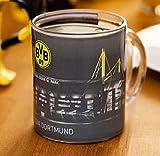 Geschenkideen BVB BVB Borussia Dortmund Zauberglas / -Tasse aus (Glas) Neuheit Signal Iduna Stadion