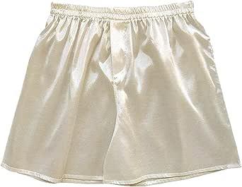 Silk Satin Men Sleep Bottoms Pajama Lounge Shorts Sleepwear