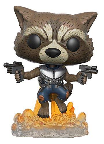 Funko-Pop-pelcula-Guardianes-de-la-galaxia-Vol-2-Rocket-Raccoon-despegando-Figura-de-vinilo