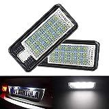 2 Pack Auto LED Kennzeichenbeleuchtung Auto Nummernschilder Licht A4/S4/RS4/A5/A6 Auto SMD Kennzeichen Beleuchtung Ersatz Lampe Plug & Play
