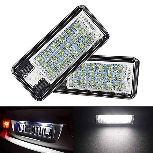 Preisvergleich Produktbild 2 Pack Auto LED Kennzeichenbeleuchtung Auto Nummernschilder Licht A4 / S4 / RS4 / A5 / A6 Auto SMD Kennzeichen Beleuchtung Ersatz Lampe Plug & Play