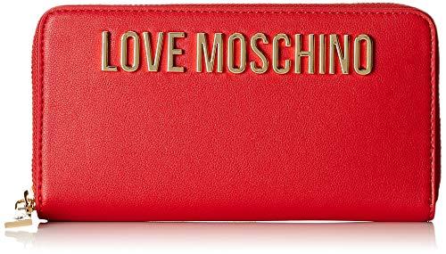 Love Moschino Portafogli Soft Grain Pu - Donna, Rosso, 3x10x19 cm (B x H T)
